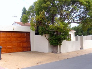 View of double garage